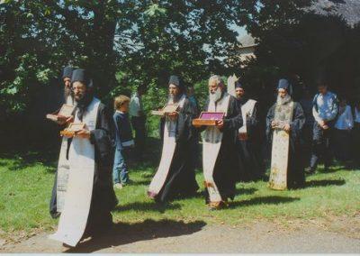 Bénédiction du monastère par le Père Aimilianos
