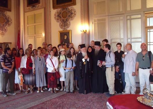 Avec le patriarche Bartholomée