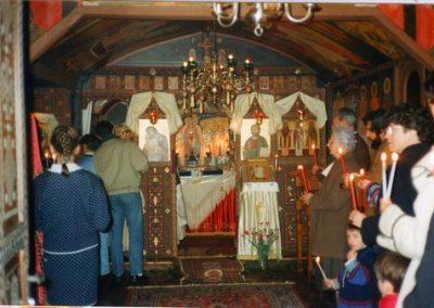 Liturgie au monastère à Murel
