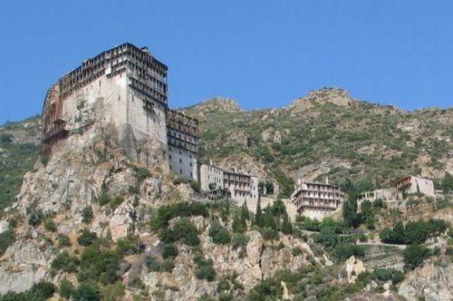 Le monastère de Simonos Petra (Mont Athos)