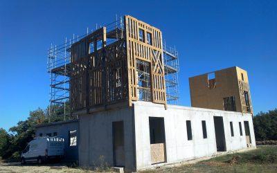Début des travaux de construction des deux tours