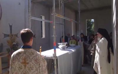 Bénédiction de la croix du nouveau catholicon