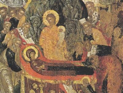 Icône de la dormition de la Mère de Dieu