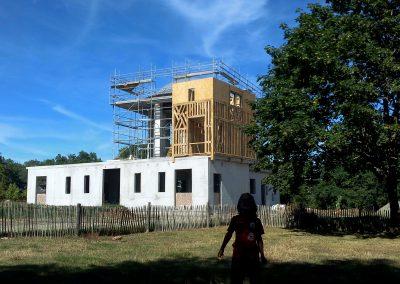 Vue de la tour droite en construction