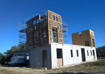 Construction de la tour gauche