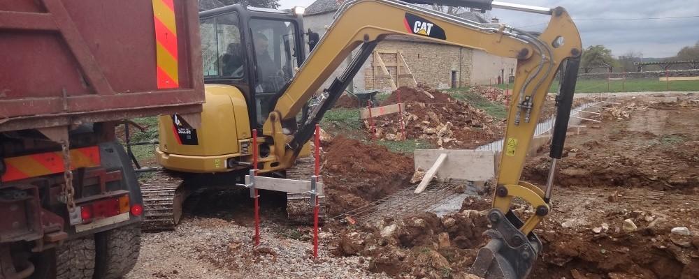 Creusement des fondations