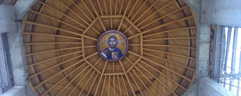 Le Christ pentocrator au coeur de la coupole