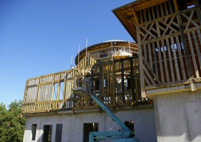 Ossature bois de la façade nord