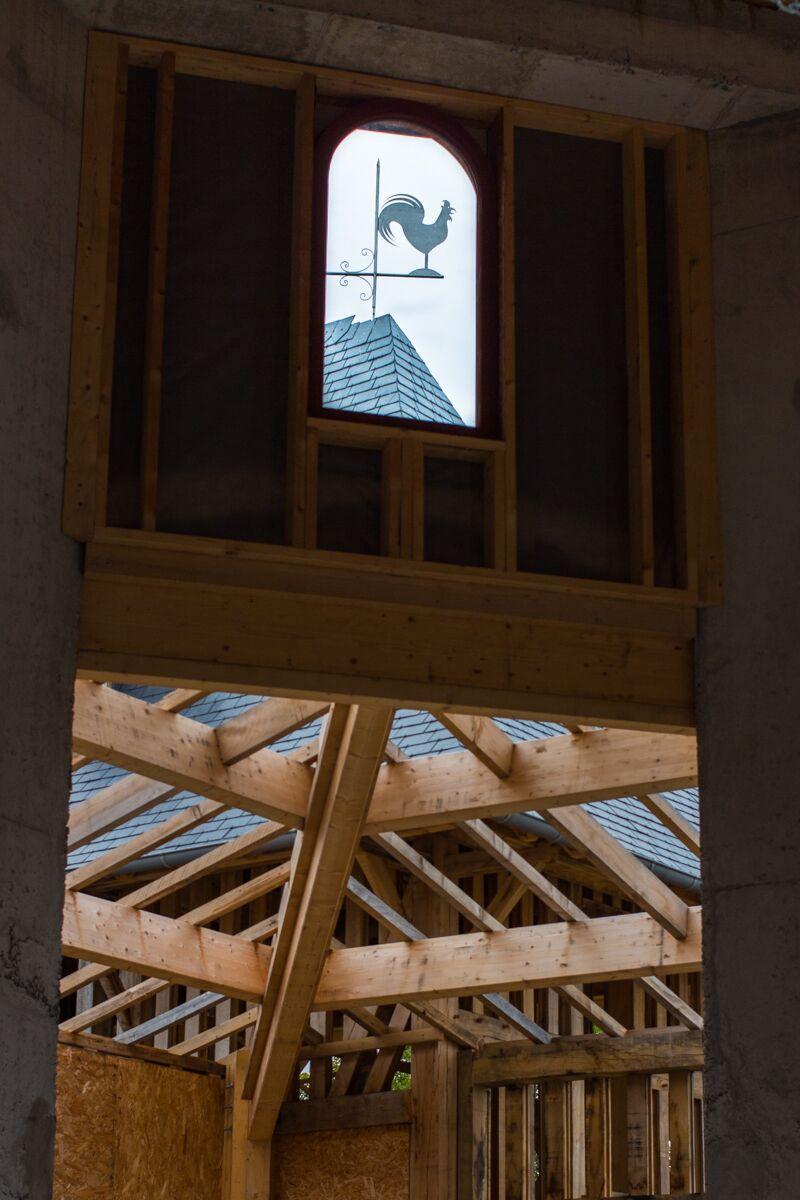 Détail de charpente de la nouvelle église