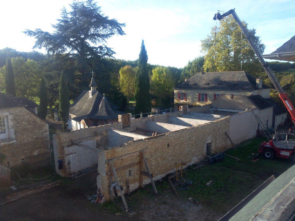 L'ancienne grange sans la toiture