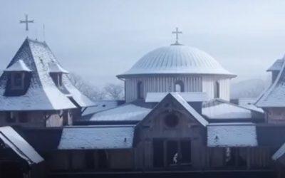 Le monastère sous la neige