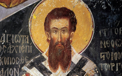 Fresque de Saint Grégoire Palamas (Monastère de Vatopedi)