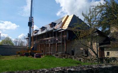 Construction de la toiture du bâtiment des soeurs