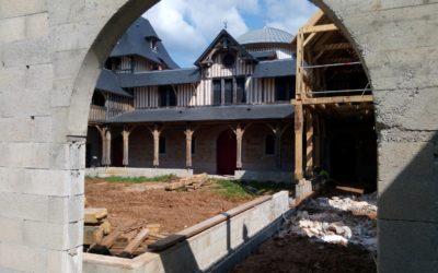 La construction de l'atrium est bien avancée