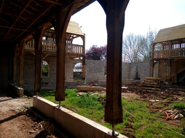 Travaux de construction de l'atrium