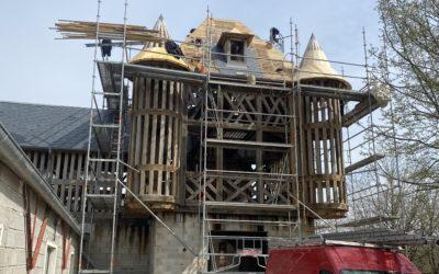 Construction du campanile